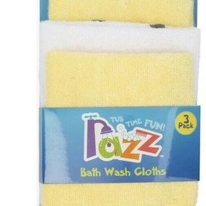 Razz Tub Time Fun  Baby Bath Wash Cloths 3 Pack